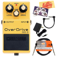 Boss OD-3 OverDrive Guitar Effects Pedal w/ 9V Power Adapter, Cables image