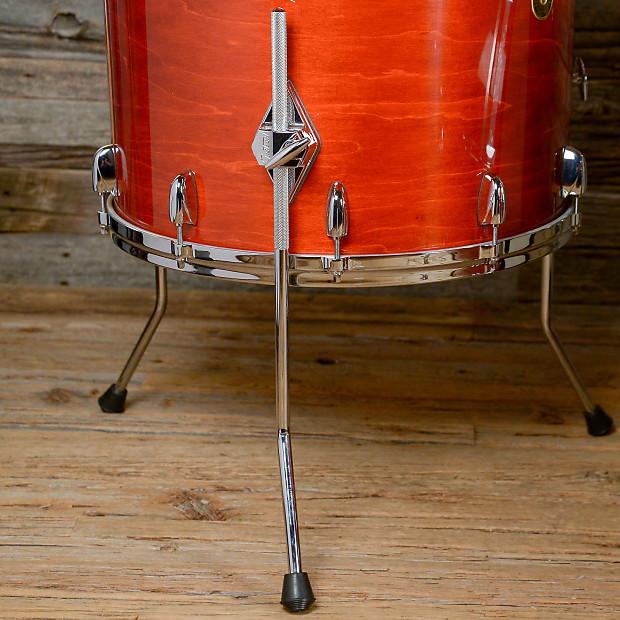 Gretsch usa custom 14 18 24 4pc drum kit w skb for 18x18 floor tom