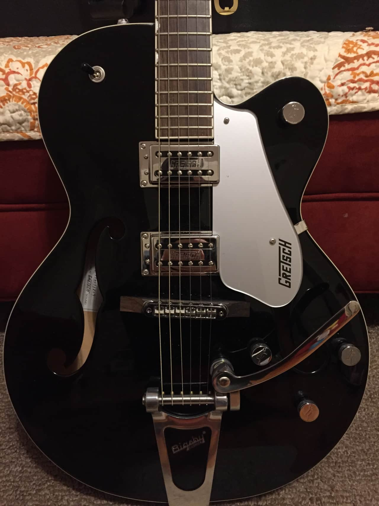 gretsch g5120 electromatic hollow body black includes reverb. Black Bedroom Furniture Sets. Home Design Ideas