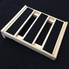 "Handmade Wood Pedalboard 10"" image"