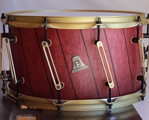 bellwether 14x8 purpleheart wenge stave snare drum natural reverb. Black Bedroom Furniture Sets. Home Design Ideas