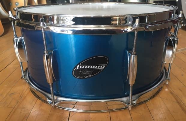 ludwig accent combo snare drum blue reverb. Black Bedroom Furniture Sets. Home Design Ideas