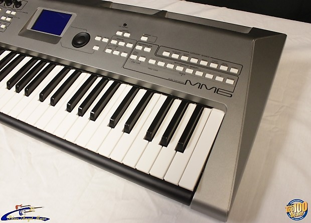 yamaha mm6 synthesizer keyboard w power adapter 61 keys