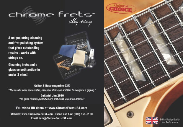 chrome frets guitar fret polish and string cleaner reverb