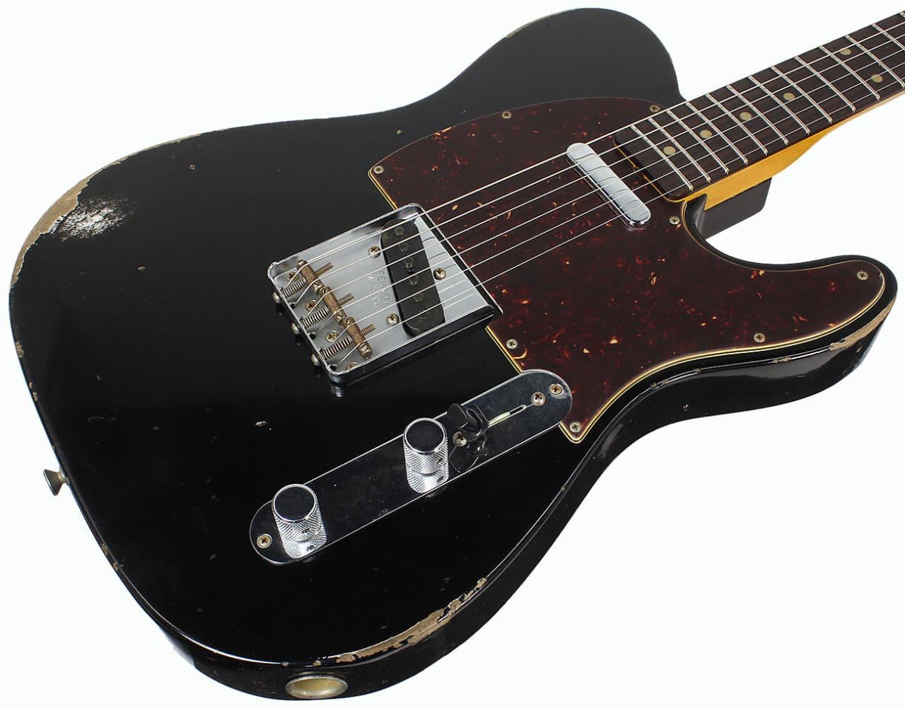 fender custom shop 1961 relic telecaster aged black 2017 reverb. Black Bedroom Furniture Sets. Home Design Ideas