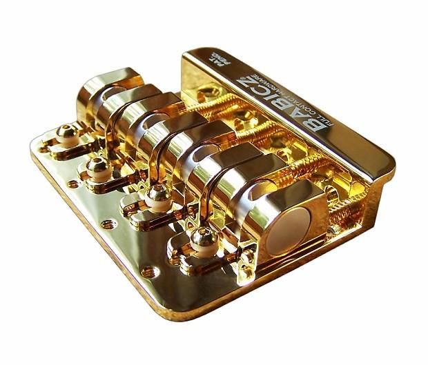 babicz full contact hardware 4 string bass bridge gold reverb. Black Bedroom Furniture Sets. Home Design Ideas