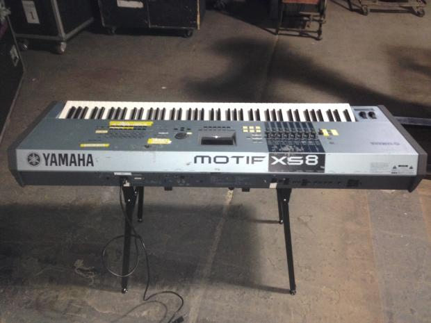 yamaha motif xs8 88 key synthesizer workstation w hd tour
