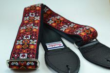 NEW! Souldier Guitar Straps - Woodstock Red - Leather Ends image