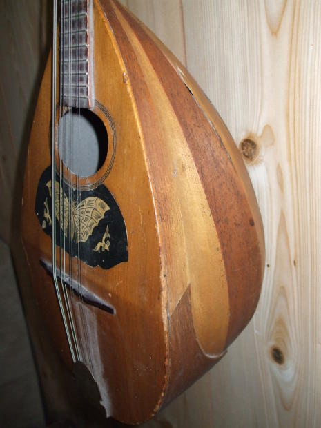 Tj Auto Sales >> ANTIQUE Mandolin 1900 ? Bowl back Butterfly | Reverb