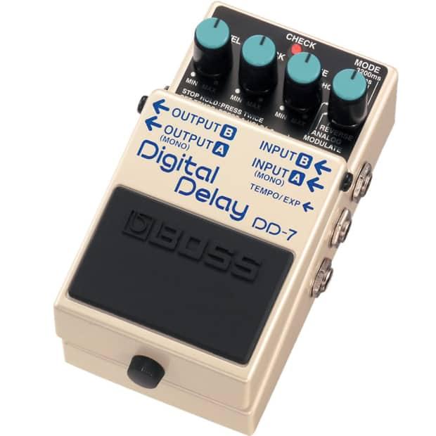 Boss Dd 7 Digital Delay Guitar Effect Pedal Reverb