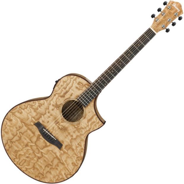 ibanez exotic wood series acoustic electric guitar natural ash aew40asnt reverb. Black Bedroom Furniture Sets. Home Design Ideas