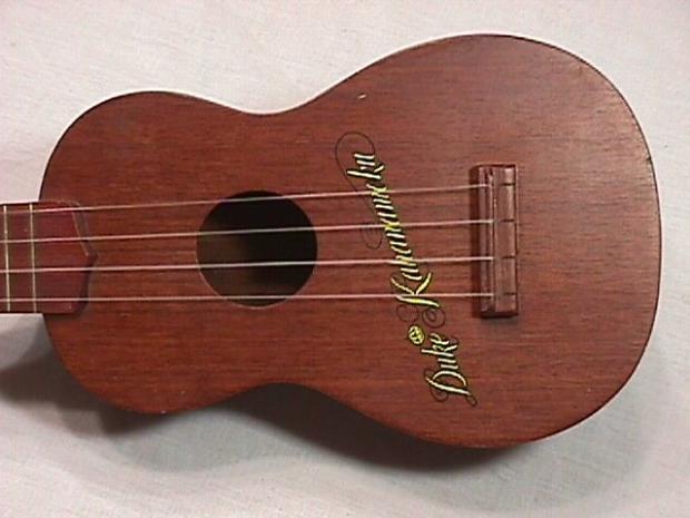 Vintage Duke Kahanamoku Solid Wood Ukulele Ready To Play