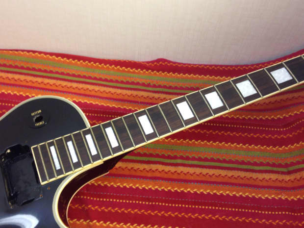 burny les paul custom 1990s black made in japan all mahogany reverb. Black Bedroom Furniture Sets. Home Design Ideas