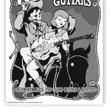 """Normandy Guitars Western Zombie Poster (22""""X 15"""") image"""