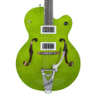 Gretsch G6120SH Brian Setzer Hot Rod Electric Guitar Green Sparkle w/Case *2015 Shop Demo* image