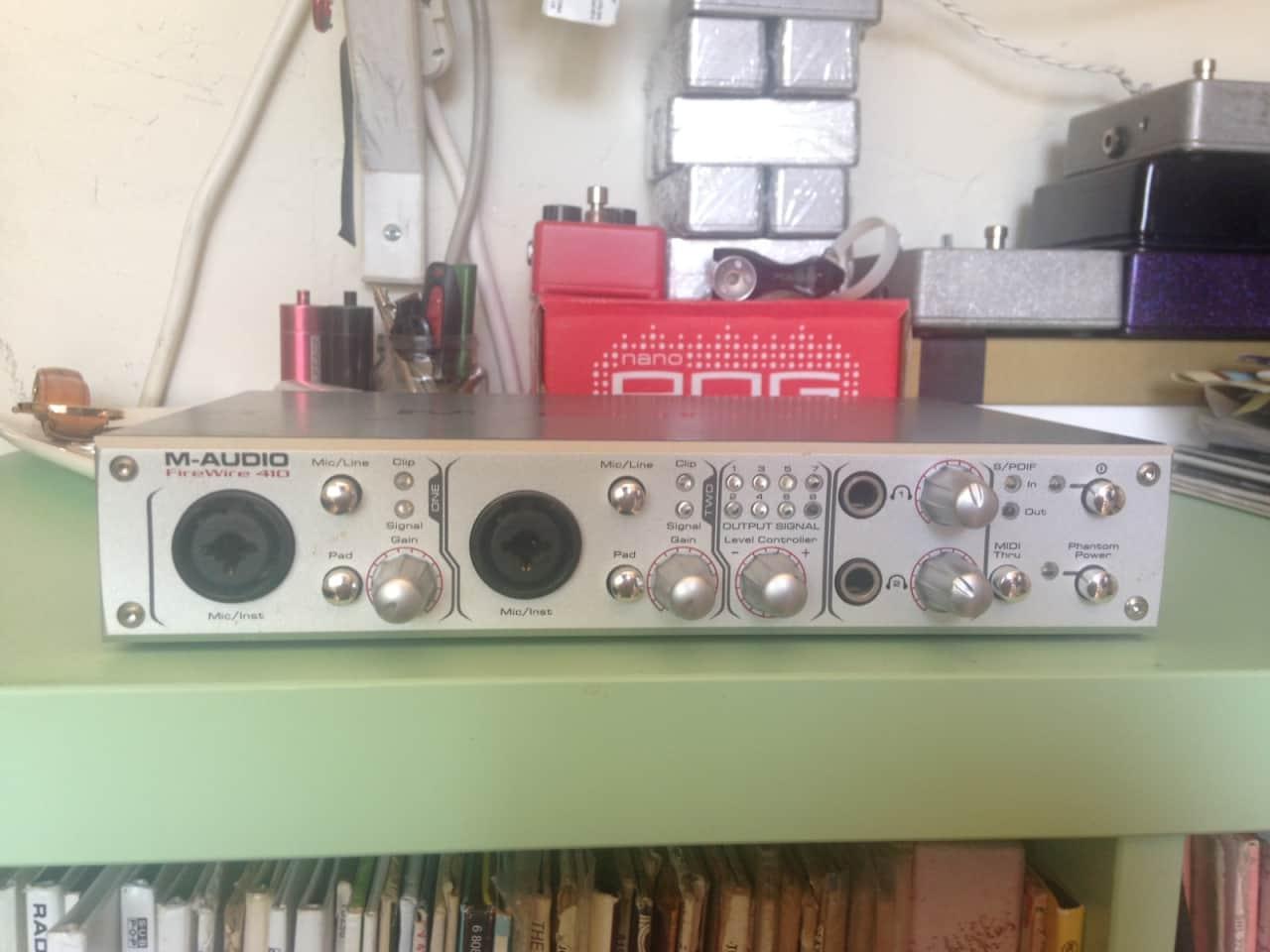m audio firewire 410 recording interface reverb. Black Bedroom Furniture Sets. Home Design Ideas