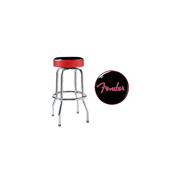 Fender 30 Quot Swiveling Bar Stool Black Red Reverb