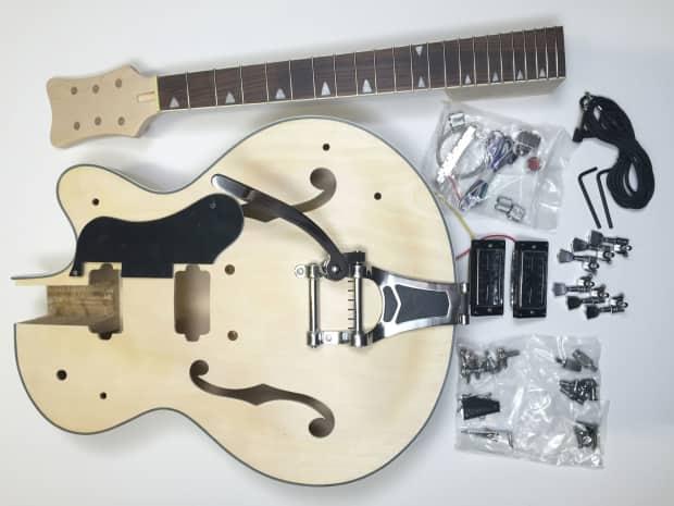 diy electric guitar kit hollow body build your own guitar reverb. Black Bedroom Furniture Sets. Home Design Ideas