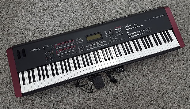 Yamaha moxf 8 weighted key workstation keyboard w manual reverb for Yamaha fully weighted keyboard