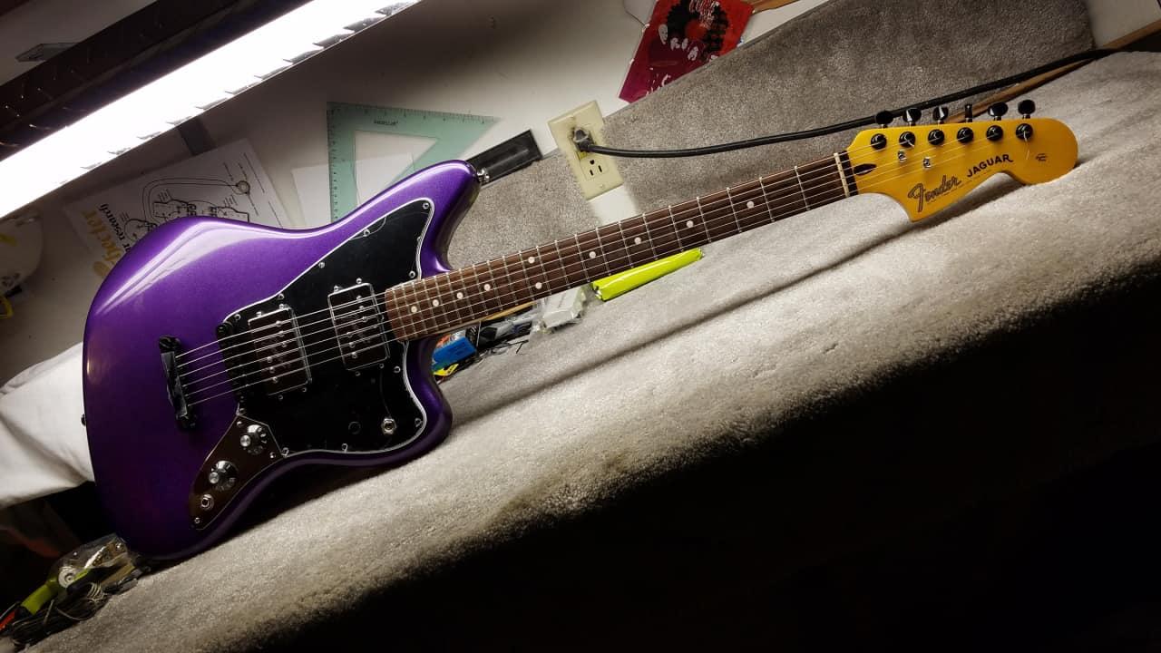 Fender Jaguar Hh Metalflake Plum Crazy Purple John5 Wrhb