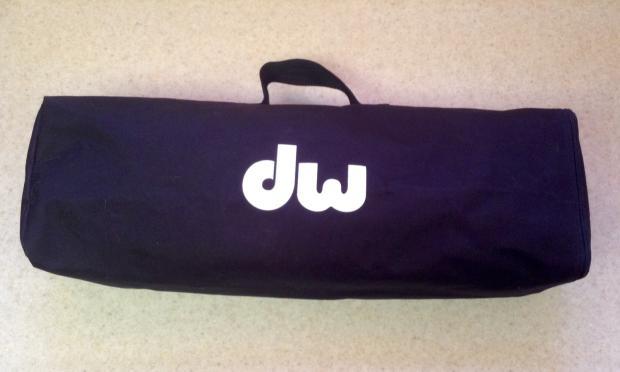 black dw hi hat stand bag will fit remote or standard dw hi hat stands reverb. Black Bedroom Furniture Sets. Home Design Ideas