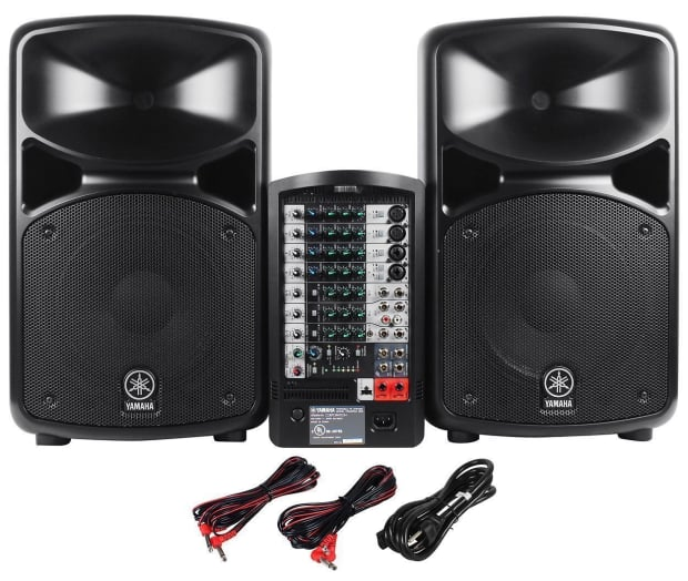 Yamaha stagepas 600i portable pa speaker system with mixer for Yamaha sound system