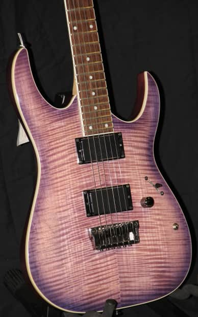 Ibanez RGA42FMBBB Electric Guitar Tiger Maple Trans Purple ...