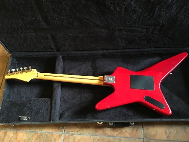 1980s kramer voyager electric guitar red shredder usa made w reverb. Black Bedroom Furniture Sets. Home Design Ideas