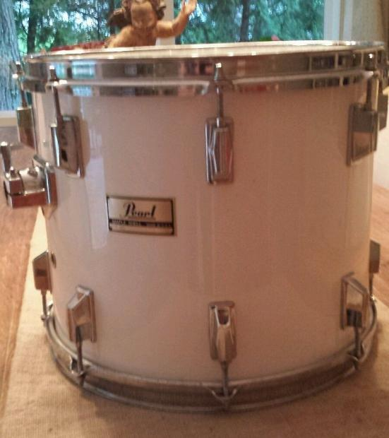 pearl drums 80 39 s made in usa maple shell 15x12 mounted tom reverb. Black Bedroom Furniture Sets. Home Design Ideas