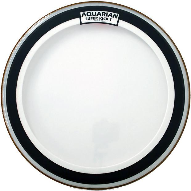 aquarian 20 inch super kick i clear single ply bass drum head reverb. Black Bedroom Furniture Sets. Home Design Ideas