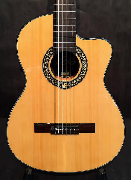 lag occitania oc66ce classical acoustic guitar reverb. Black Bedroom Furniture Sets. Home Design Ideas
