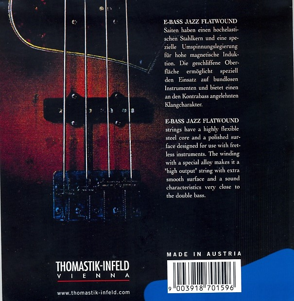 thomastik infeld jf344 bass guitar strings jazz flat wounds reverb. Black Bedroom Furniture Sets. Home Design Ideas