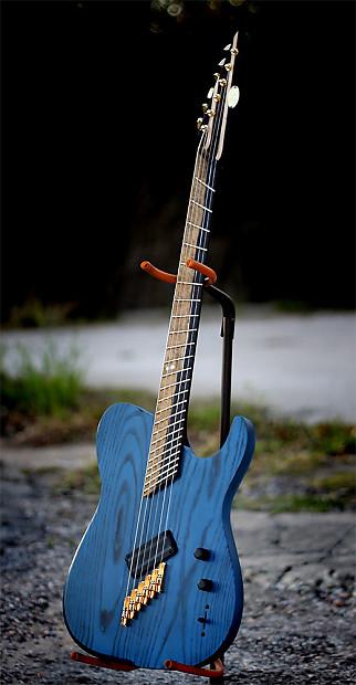black water guitar company custom t style 2012 blue black reverb. Black Bedroom Furniture Sets. Home Design Ideas