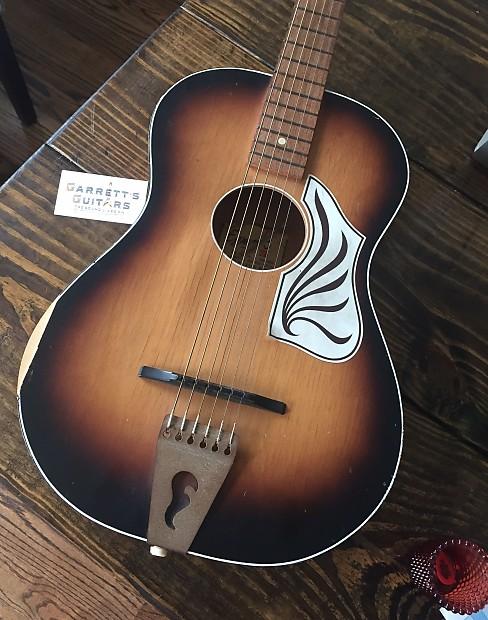 egmond vintage parlor acoustic guitar holland 1960s sunburst reverb. Black Bedroom Furniture Sets. Home Design Ideas