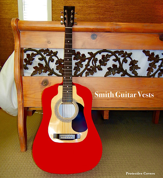 acoustic guitar cover vest red dread fits martin gibson reverb. Black Bedroom Furniture Sets. Home Design Ideas