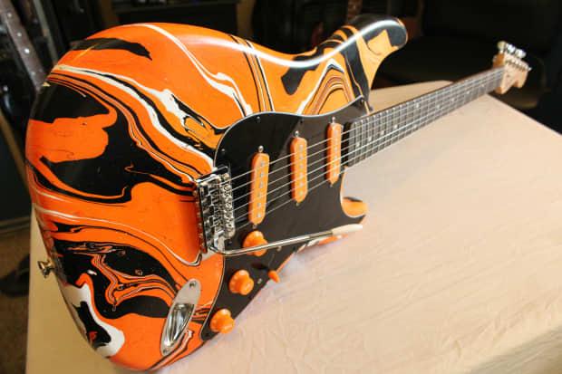 Daves Auto Sales >> Custom Swirl Painted 2008 Fender Squier Affinity Series Strat | Reverb