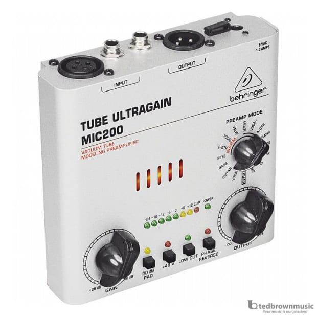 Behringer Tube Preamp : behringer mic200 tube ultragain preamp reverb ~ Hamham.info Haus und Dekorationen