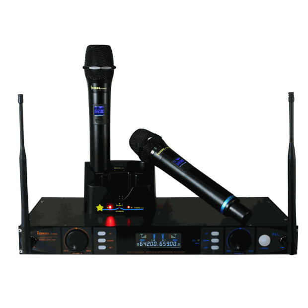 idolpro uhf 398 multi channel uhf rechargeable wireless reverb. Black Bedroom Furniture Sets. Home Design Ideas