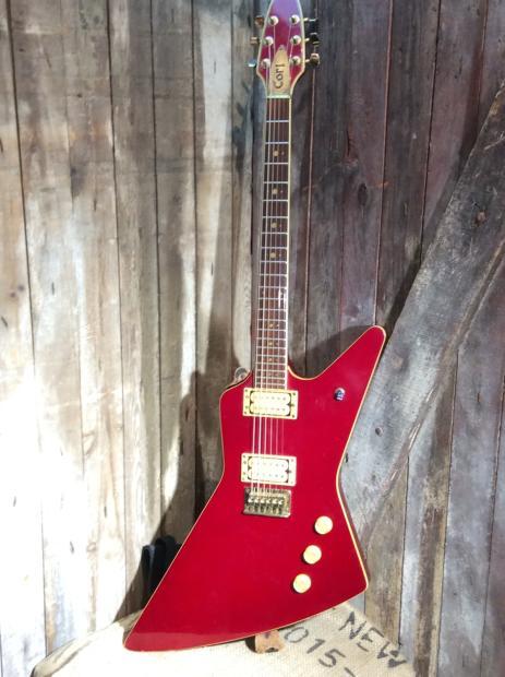 Vintage Cort Explorer Copy Electric Guitar Reverb