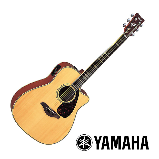 yamaha fgx720sca acoustic electric guitar natural reverb