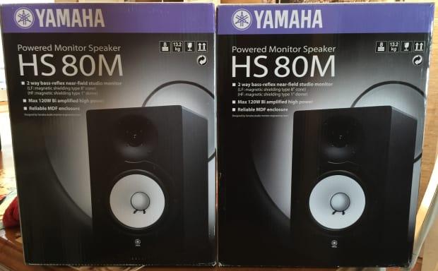 Yamaha hs80m monitors pair excellent reverb for Yamaha hs80 vs hs8
