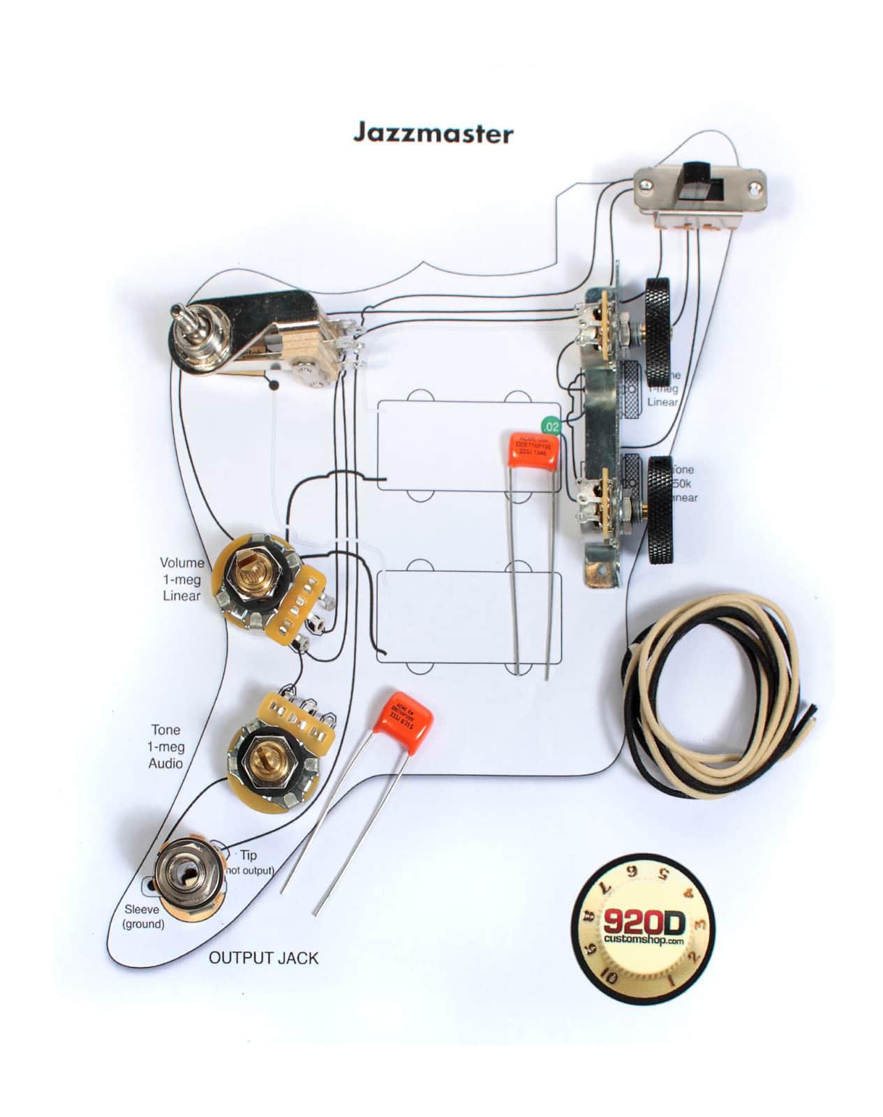 fender vintage jazzmaster wiring kit
