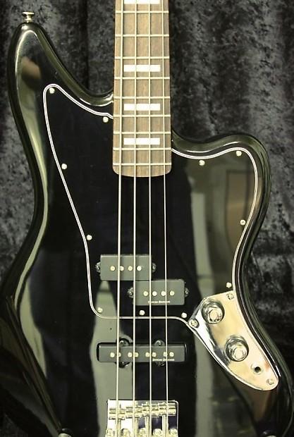 squier vm jaguar bass pickguard 5 ply black reverb. Black Bedroom Furniture Sets. Home Design Ideas