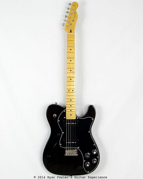 fender modern player telecaster thinline deluxe black reverb