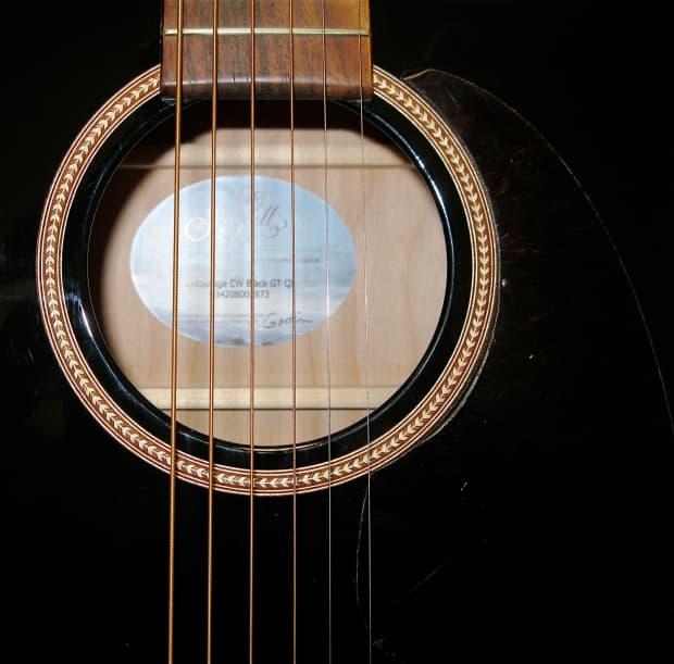Seagull Entourage Black Cw Gt Qi Acoustic Electric Guitar