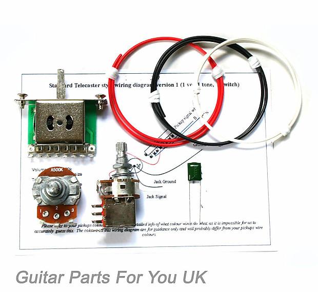 500k Telecaster Push Pull Wiring Kit Mini Pots 0 022uf Tl