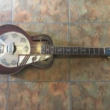 National Resonator Guitar Vintage Acoustic Circa 1934 RARE 14 Fret w/ Pickguard image