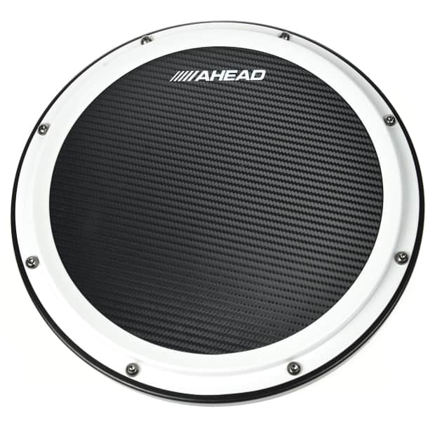 ahead 14 white black s hoop marching pad with snare sound reverb. Black Bedroom Furniture Sets. Home Design Ideas