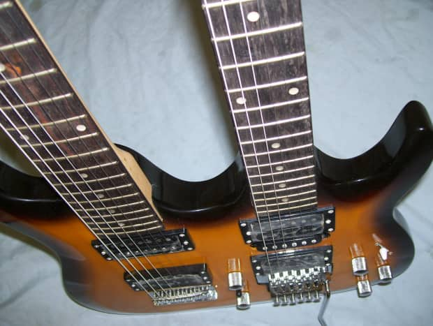 double neck guitar 6 and 7 string on each neck reverb. Black Bedroom Furniture Sets. Home Design Ideas