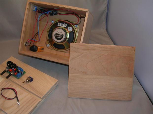 9v mini guitar amp kit with 4 speaker ash hardwood to make reverb. Black Bedroom Furniture Sets. Home Design Ideas